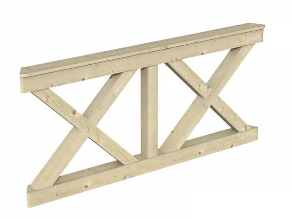 Skan Holz Brüstung für Pavillons 180 cm Andreaskreuz
