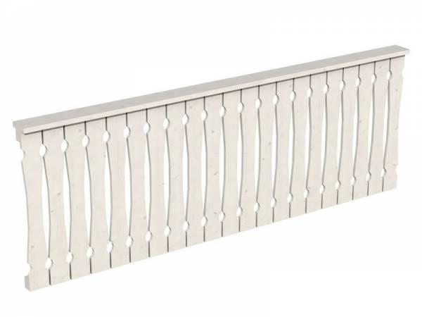Skan Holz Brüstung in weiß für Pavillon 270 cm Balkonschalung