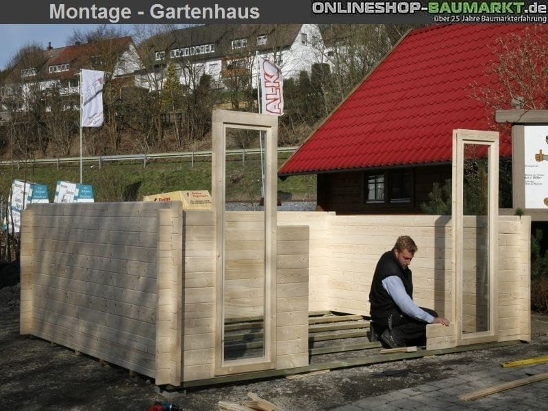 Montage Karibu Gartenhaus Tonnendachhaus 2 Sparset 28 Mm