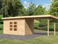 Karibu Woodfeeling Gartenhaus Kandern 9 mit Anbaudach 3,2 m