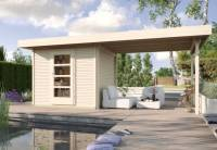Weka Gartenhaus wekaLine 172 B Größe 1 naturAnbau 300 cm