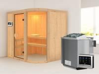 Parima 2 - Karibu Sauna inkl. 9-kW-Bioofen