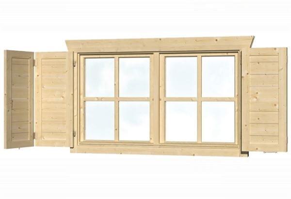 Skan Holz Fensterläden Doppelfenster beidseitig