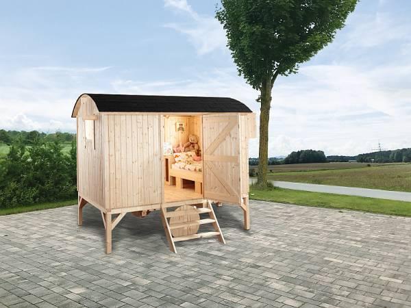 Wolff Finnhaus Camping Bauwagen natur