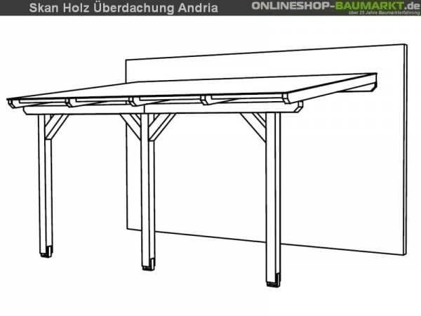 Skan Holz Terrassenüberdachung Andria 434 x 300 cm Leimholz