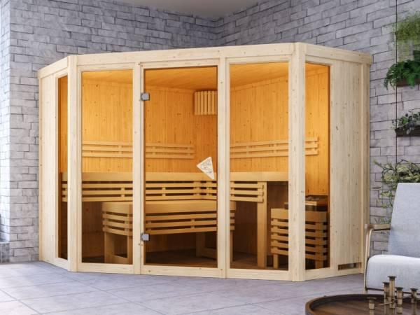Karibu Sauna Alcinda ohne Ofen 68 mm