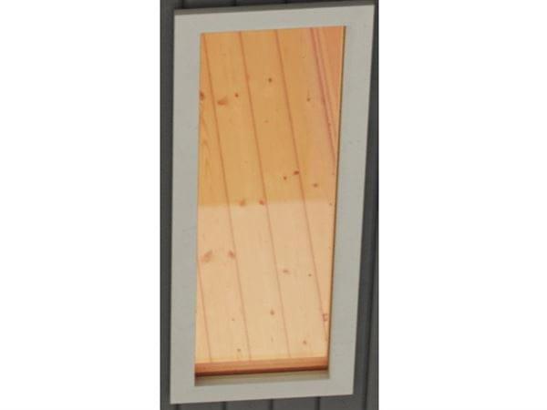 Karibu Fenster elfenbeinweiss für 40 mm Sauna Klarglas Iso-Glas